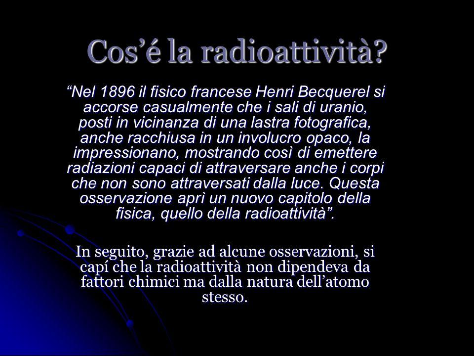 Cos'é la radioattività.