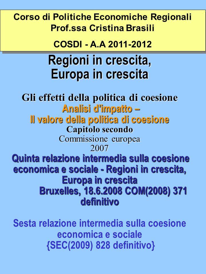 COMMISSIONE DELLE COMUNITÀ EUROPEE Bruxelles, 25.6.2009 COM(2009) 295 definitivo RELAZIONE DELLA COMMISSIONE AL PARLAMENTO EUROPEO E AL CONSIGLIO COMMISSIONE DELLE COMUNITÀ EUROPEE Bruxelles, 25.6.2009 COM(2009) 295 definitivo RELAZIONE DELLA COMMISSIONE AL PARLAMENTO EUROPEO E AL CONSIGLIO Sesta relazione intermedia sulla coesione economica e sociale {SEC(2009) 828 definitivo} La relazione è incentrata sulla creatività e sull innovazione perché questi due elementi possono contribuire a far emergere l Unione europea più rapidamente dall attuale crisi economica e più forte di prima.