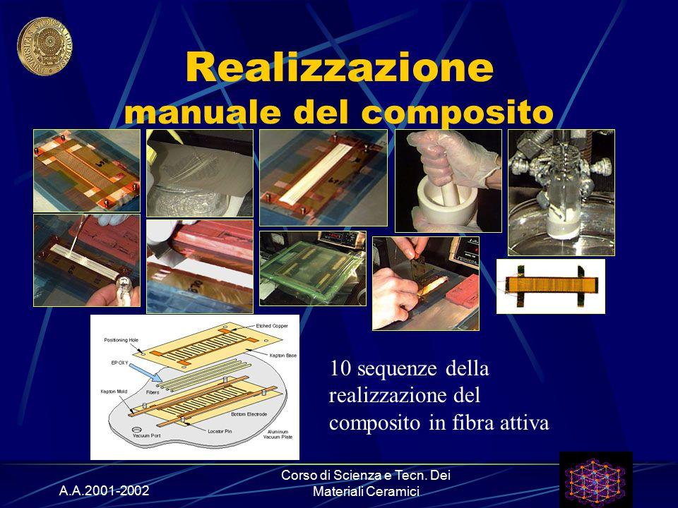 A.A.2001-2002 Corso di Scienza e Tecn. Dei Materiali Ceramici Realizzazione manuale del composito 10 sequenze della realizzazione del composito in fib