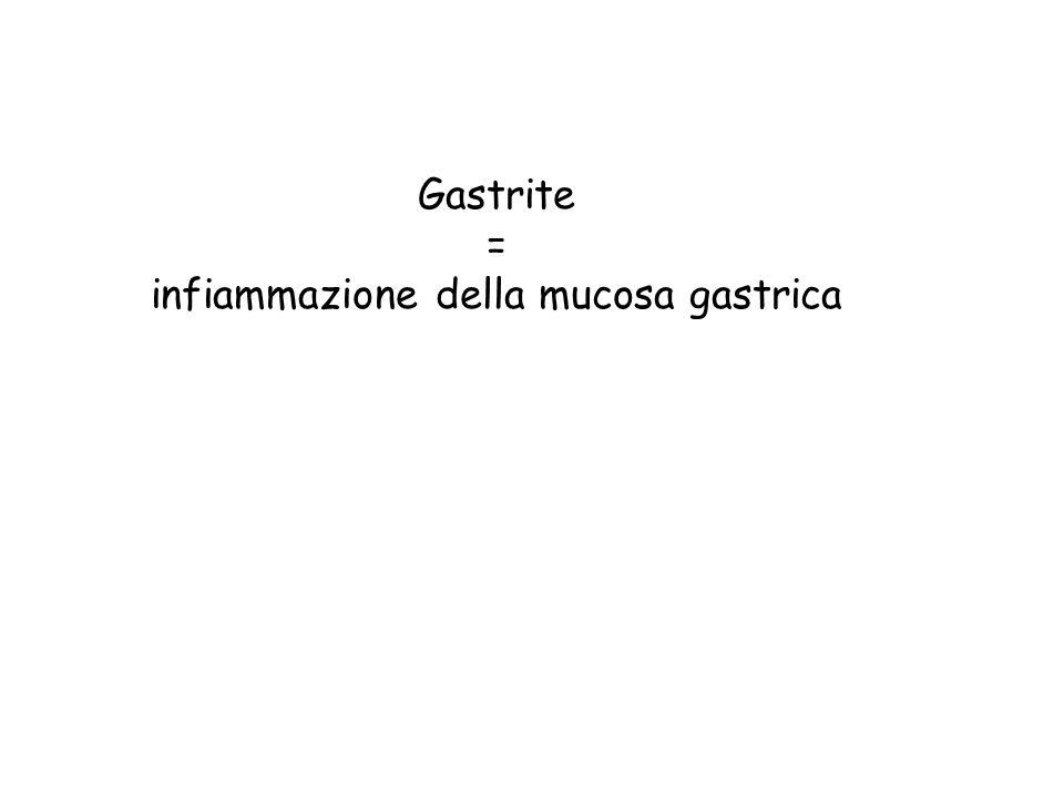 Gastrite = infiammazione della mucosa gastrica