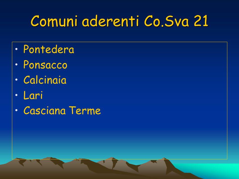 Comuni aderenti Co.Sva 21 Pontedera Ponsacco Calcinaia Lari Casciana Terme
