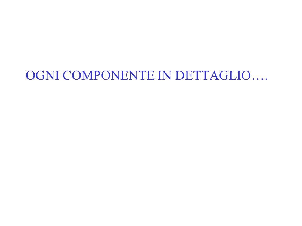 OGNI COMPONENTE IN DETTAGLIO….
