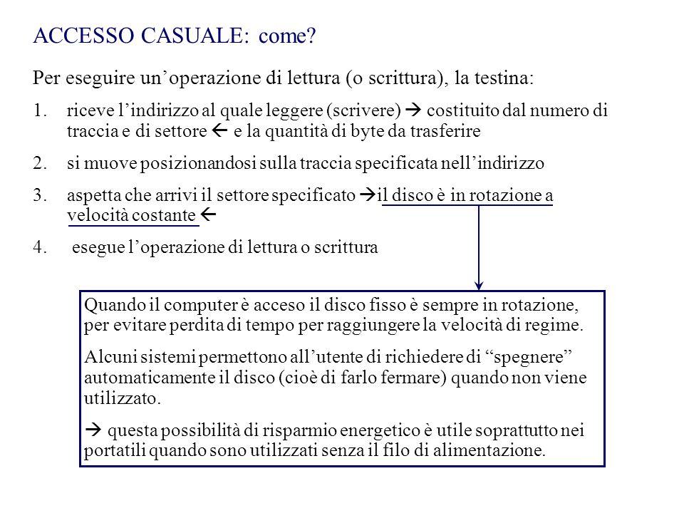 ACCESSO CASUALE: come.
