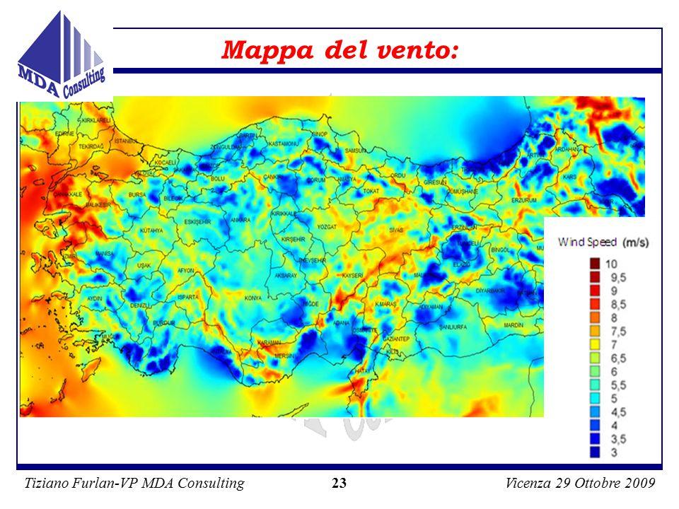 Tiziano Furlan-VP MDA ConsultingVicenza 29 Ottobre 2009 23 Mappa del vento: