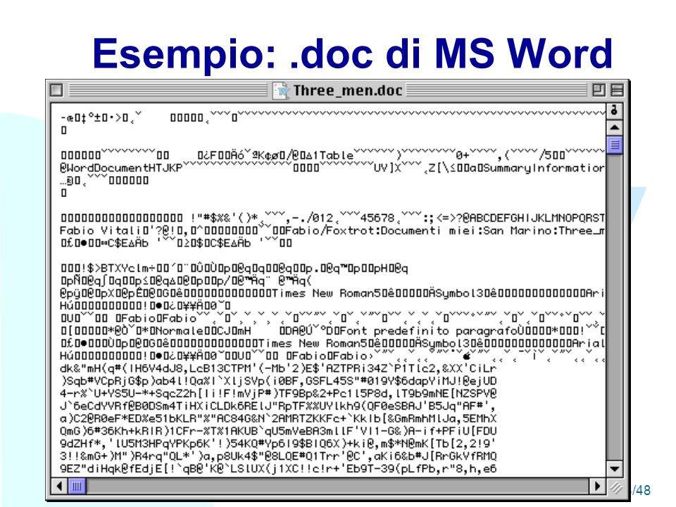 WWW A seguire: Esempio: Quark Xpress18/48 Esempio:.doc di MS Word