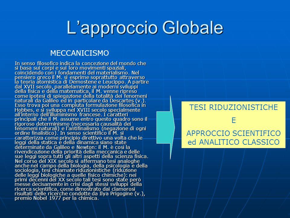 L'approccio Globale Perché usare l'approccio su larga scala.