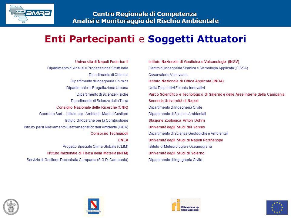 Centro Regionale di Competenza Analisi e Monitoraggio del Rischio Ambientale Università di Napoli Federico II Dipartimento di Analisi e Progettazione