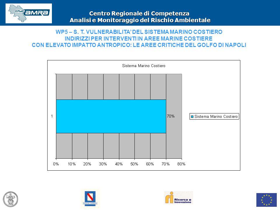 Centro Regionale di Competenza Analisi e Monitoraggio del Rischio Ambientale WP5 – S. T. VULNERABILITA' DEL SISTEMA MARINO COSTIERO INDIRIZZI PER INTE
