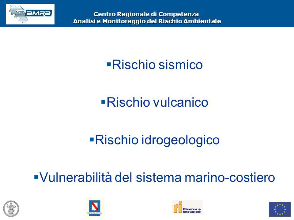 Centro Regionale di Competenza Analisi e Monitoraggio del Rischio Ambientale  Rischio sismico  Rischio vulcanico  Rischio idrogeologico  Vulnerabi