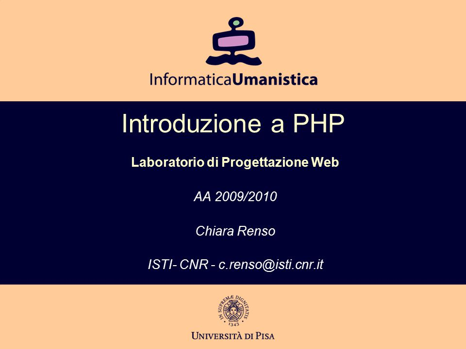 Variabili predefinite  Negli script PHP sono disponibili variabili global definite al di fuori dello script, chiamate variabili predefinite (o superglobalarray)  Variabili del server, sono definite dal server web e quindi variano a seconda del server usato.