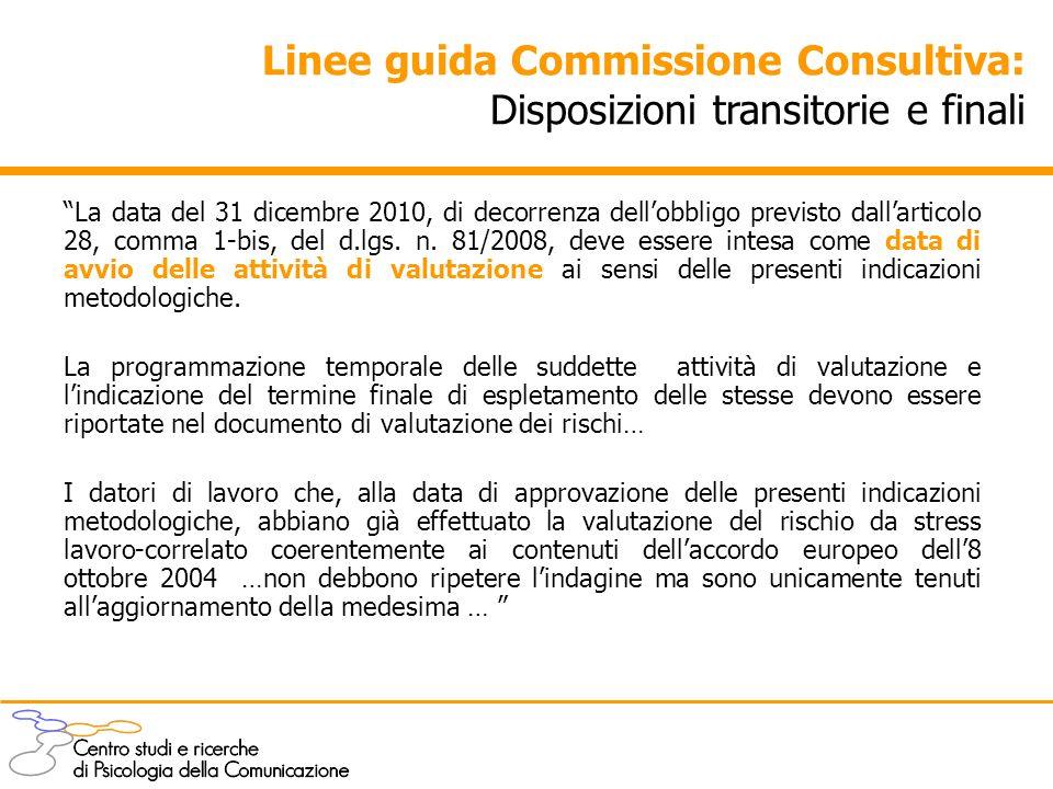 """""""La data del 31 dicembre 2010, di decorrenza dell'obbligo previsto dall'articolo 28, comma 1-bis, del d.lgs. n. 81/2008, deve essere intesa come data"""