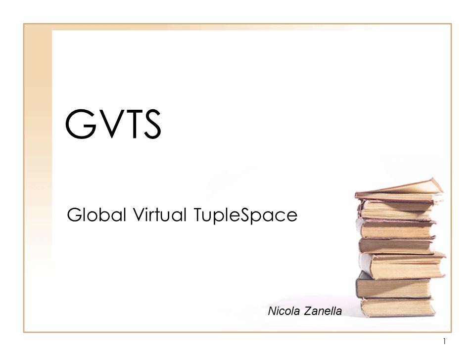 1 GVTS Global Virtual TupleSpace Nicola Zanella