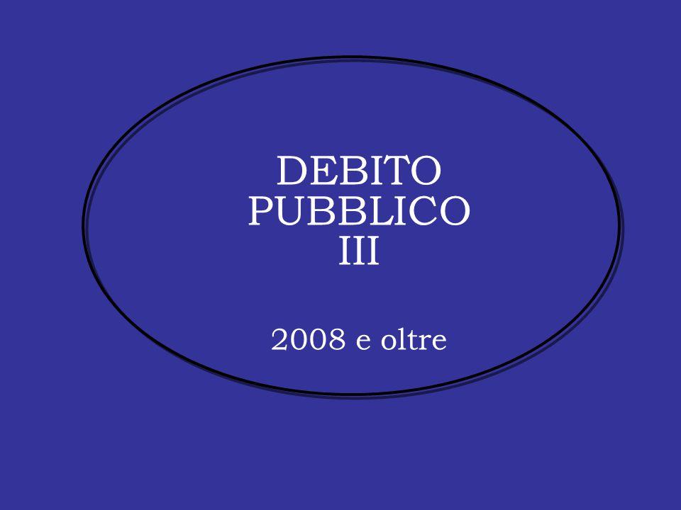 DEBITO PUBBLICO III 2008 e oltre