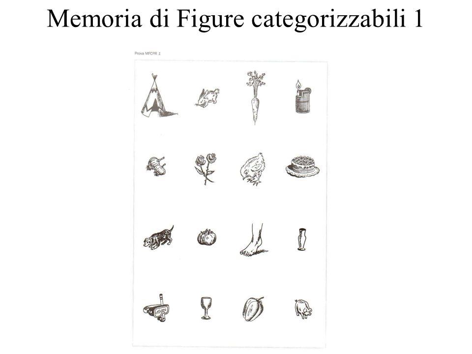 Memoria di Figure categorizzabili 1
