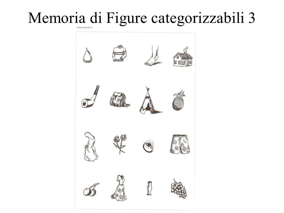 Memoria di Figure categorizzabili 3