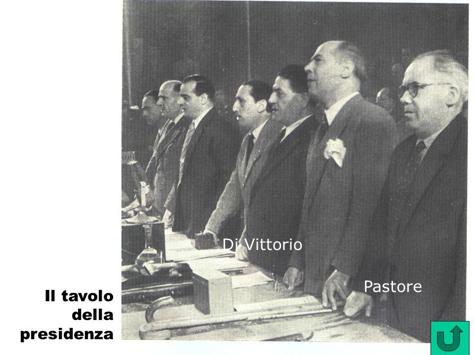 Pastore Di Vittorio Il tavolo della presidenza