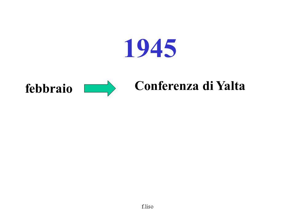 f.liso 1945 febbraio Conferenza di Yalta