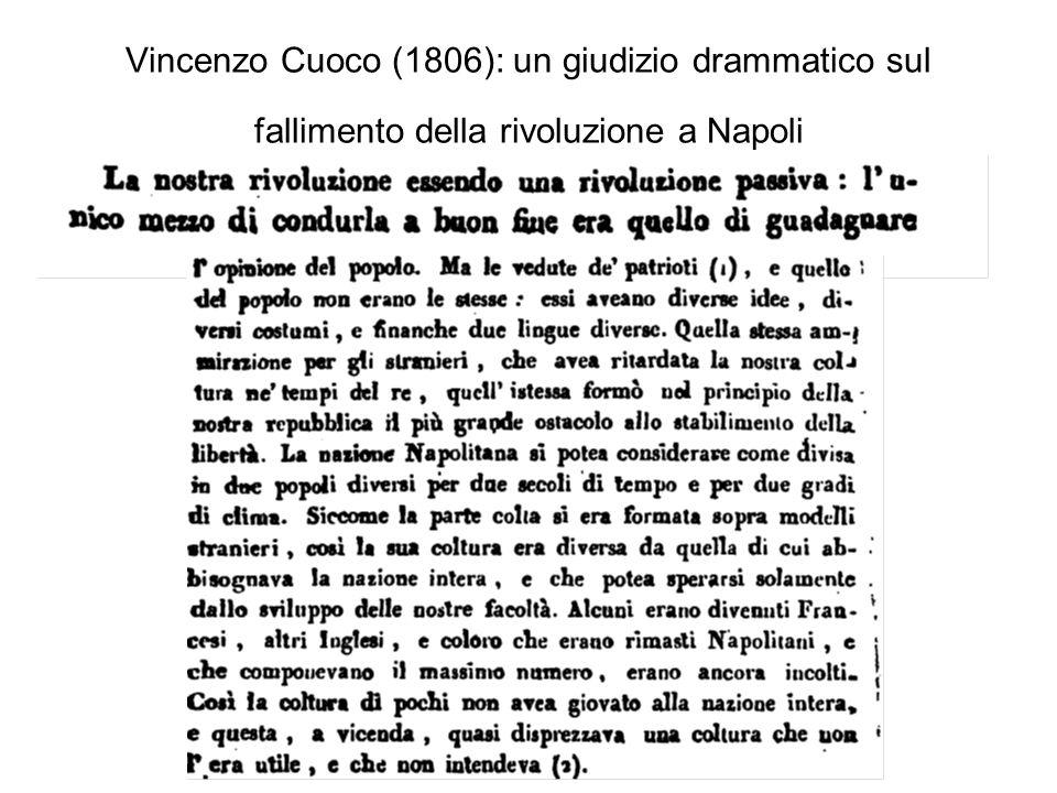 Vincenzo Cuoco (1806): un giudizio drammatico sul fallimento della rivoluzione a Napoli