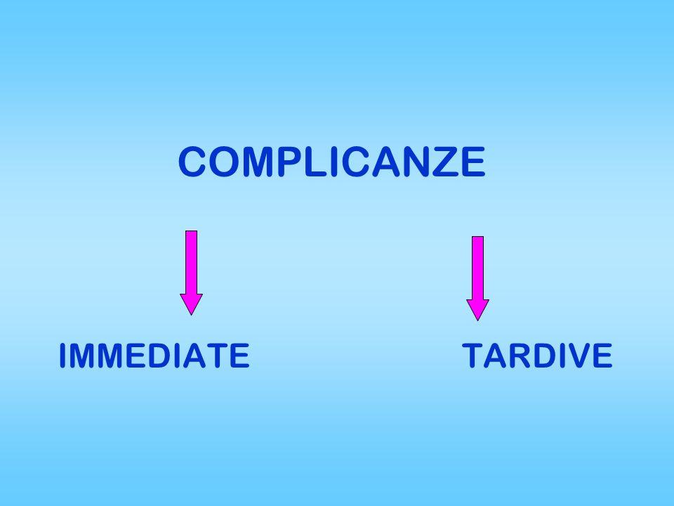 COMPLICANZE IMMEDIATETARDIVE