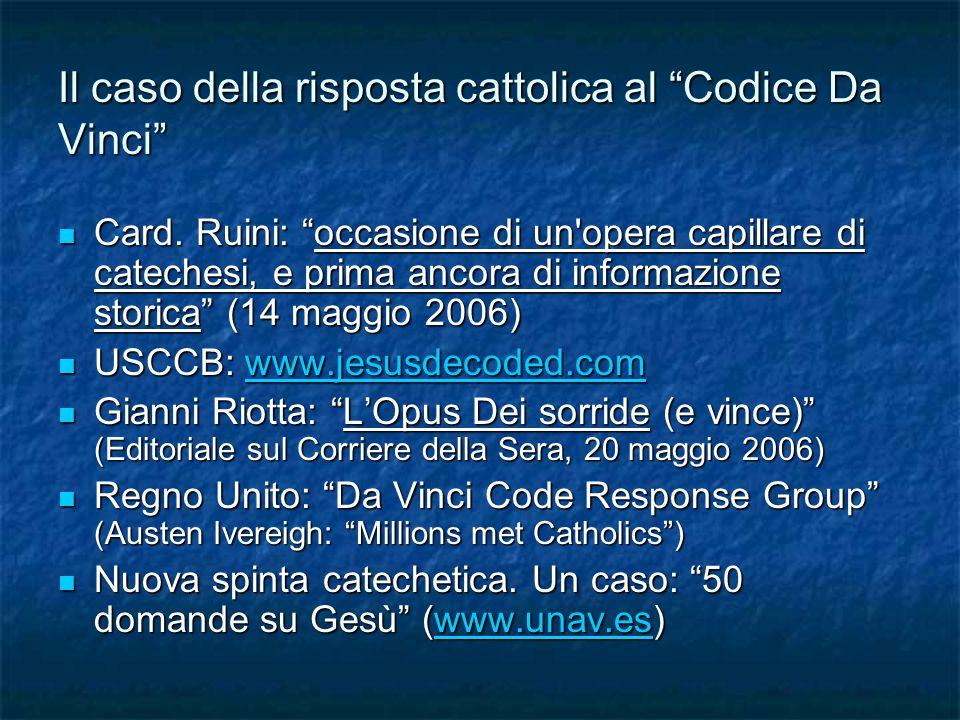 Il caso della risposta cattolica al Codice Da Vinci Card.