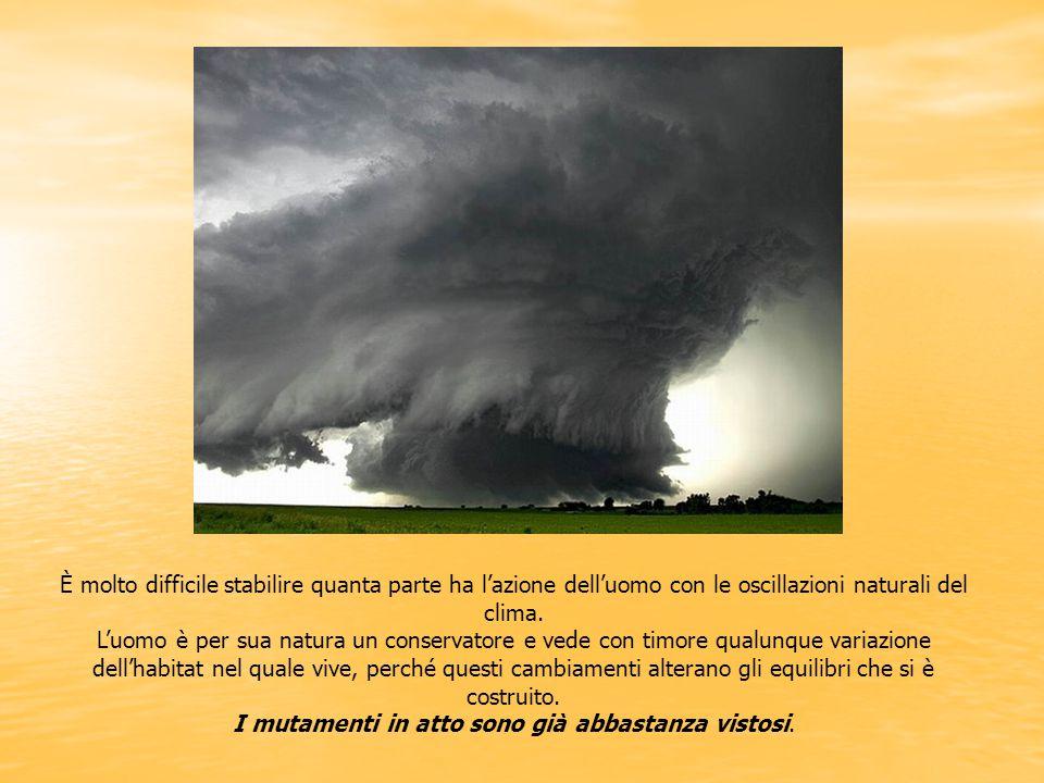 È molto difficile stabilire quanta parte ha l'azione dell'uomo con le oscillazioni naturali del clima. L'uomo è per sua natura un conservatore e vede