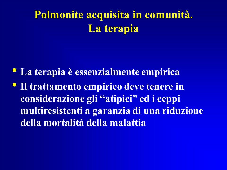 Polmonite acquisita in comunità.