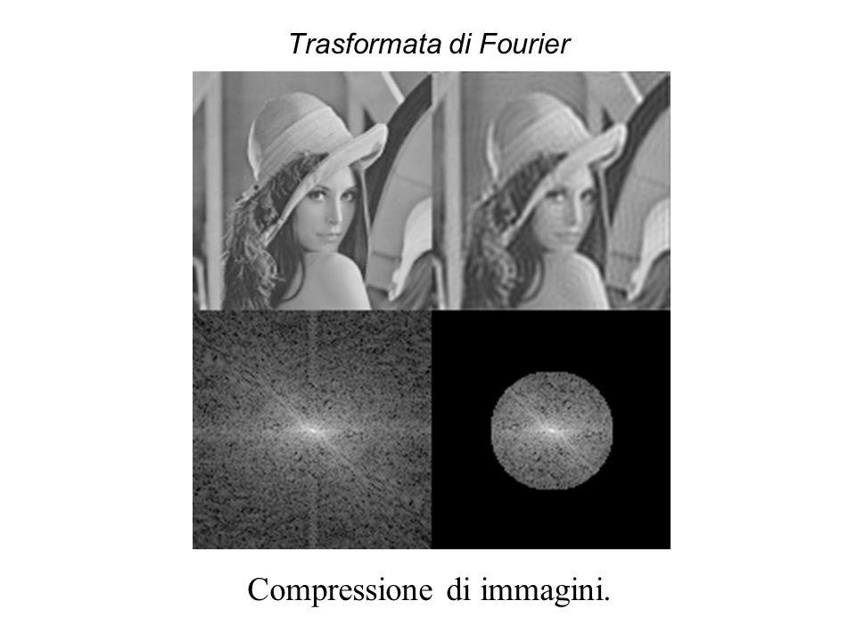 Trasformata di Fourier Compressione di immagini.