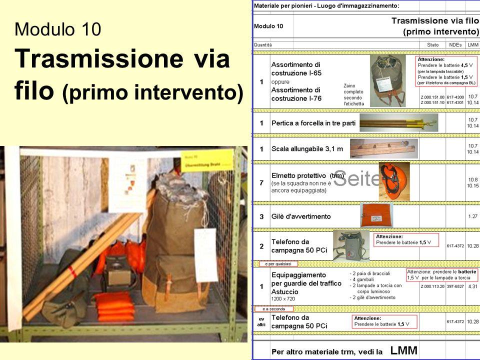 Modulo 10 Trasmissione via filo (primo intervento)
