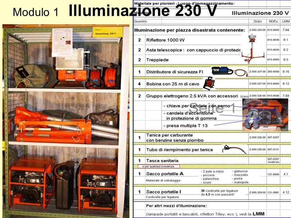 Modulo 1 Illuminazione 230 V