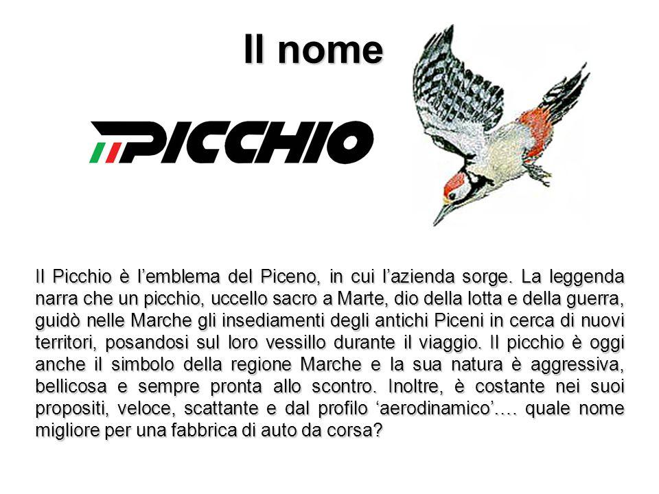 Il nome Il Picchio è l'emblema del Piceno, in cui l'azienda sorge. La leggenda narra che un picchio, uccello sacro a Marte, dio della lotta e della gu