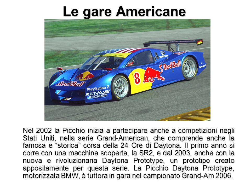 Le gare Americane Nel 2002 la Picchio inizia a partecipare anche a competizioni negli Stati Uniti, nella serie Grand-American, che comprende anche la