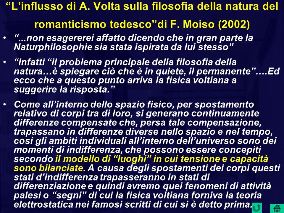 L'influsso di A.Volta sulla filosofia della natura del romanticismo tedesco di F.