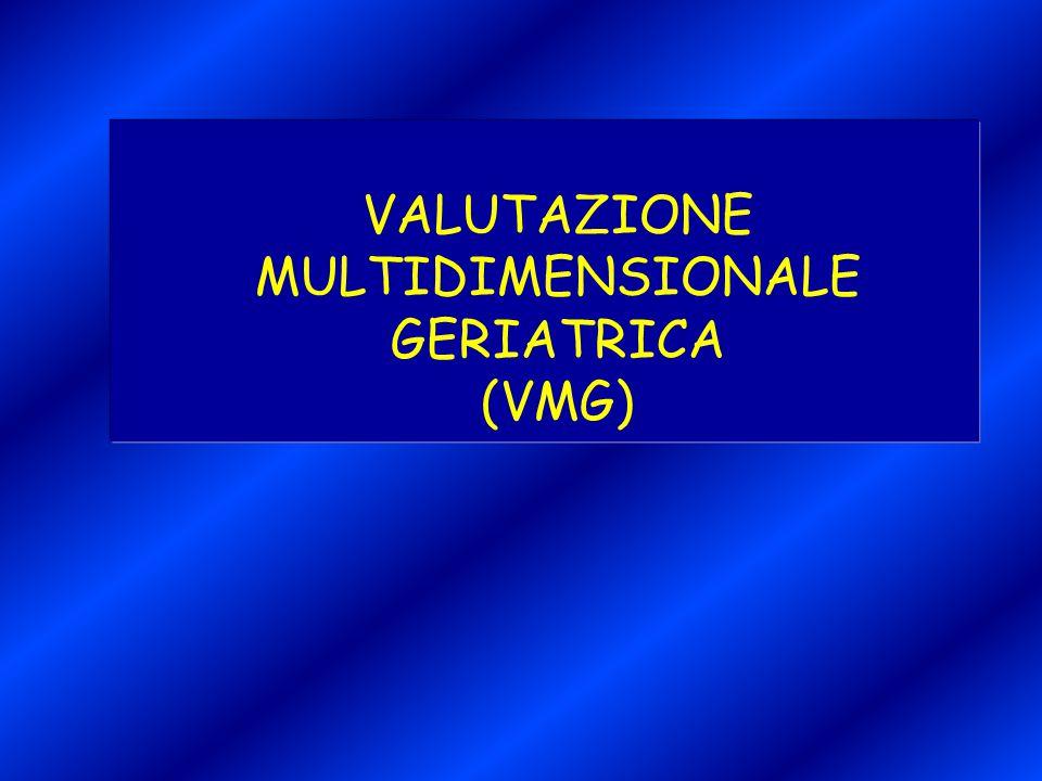 VALUTAZIONE MULTIDIMENSIONALE GERIATRICA (VMG)