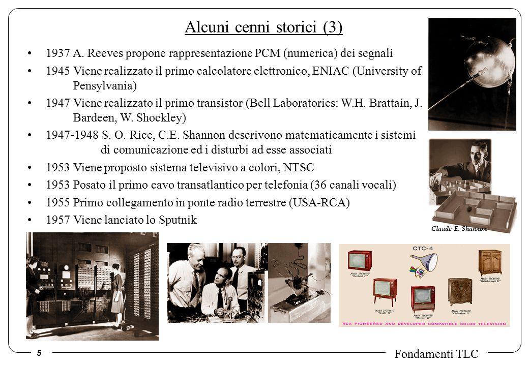 5 Fondamenti TLC Alcuni cenni storici (3) 1937 A.
