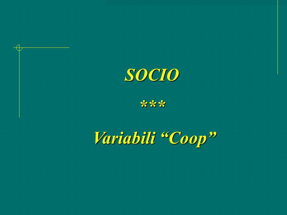 "SOCIO*** Variabili ""Coop"" Variabili ""Coop"""