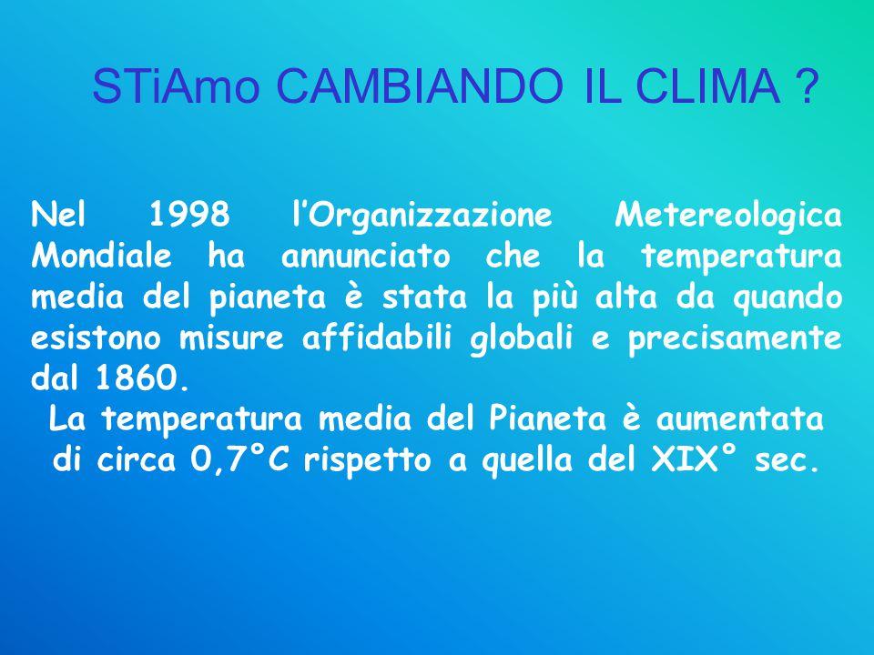 Nel 1998 l'Organizzazione Metereologica Mondiale ha annunciato che la temperatura media del pianeta è stata la più alta da quando esistono misure affi
