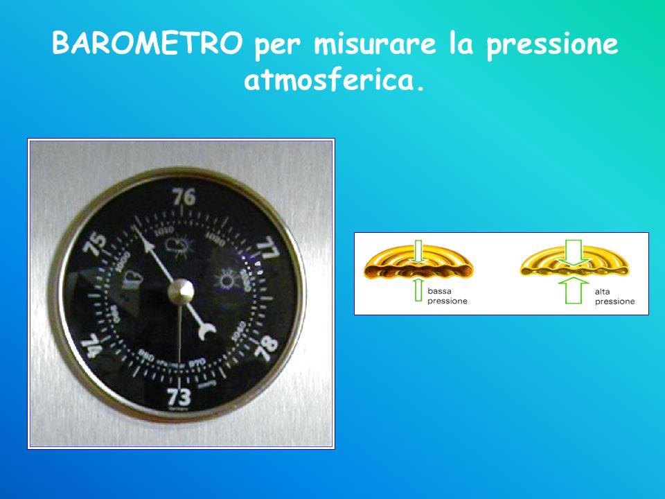 BAROMETRO per misurare la pressione atmosferica.