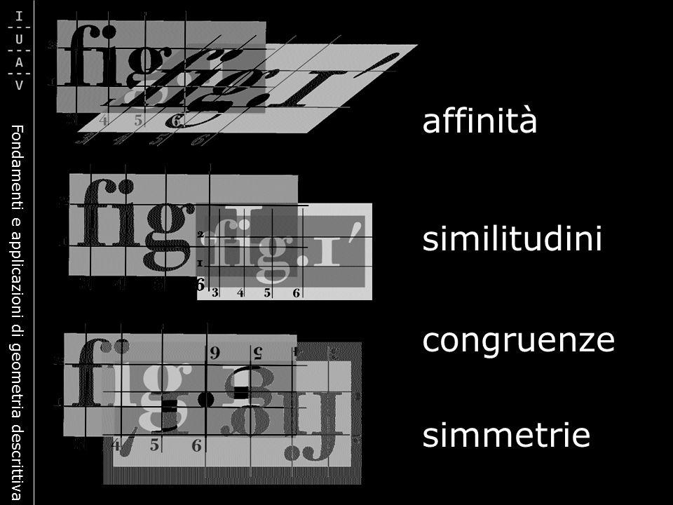 Fondamenti e applicazioni di geometria descrittiva affinità similitudini congruenze simmetrie