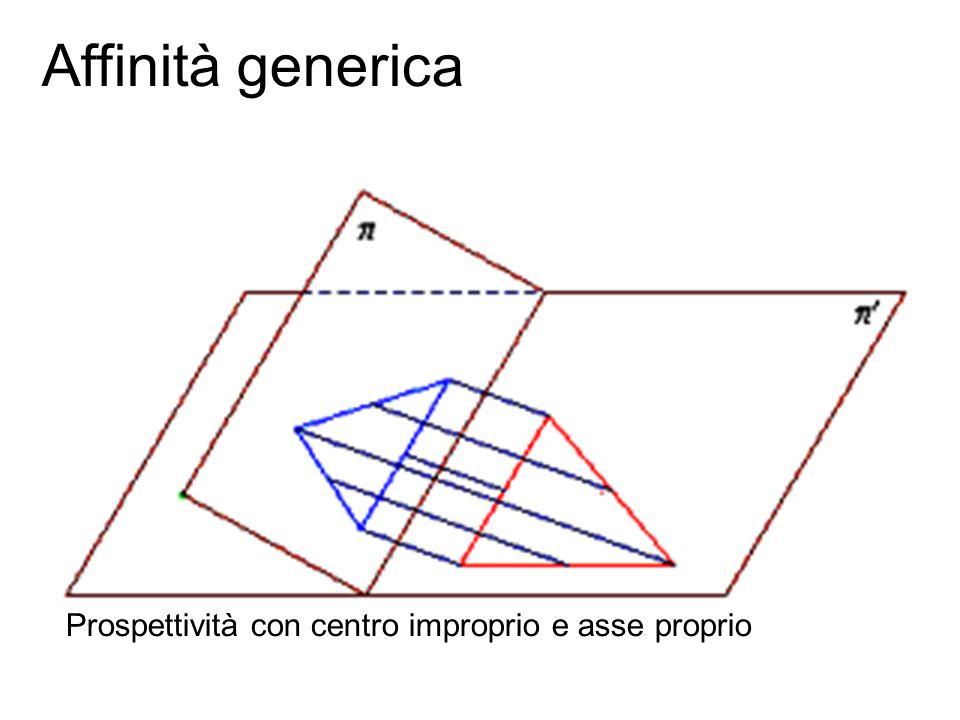 Fondamenti e applicazioni di geometria descrittiva Affinità generica Prospettività con centro improprio e asse proprio