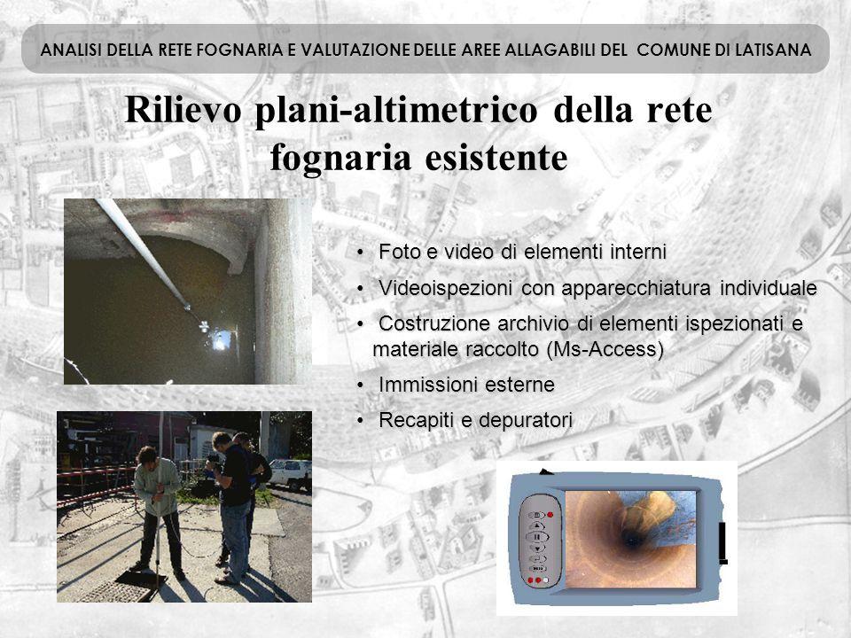 Foto e video di elementi interni Foto e video di elementi interni Videoispezioni con apparecchiatura individuale Videoispezioni con apparecchiatura in