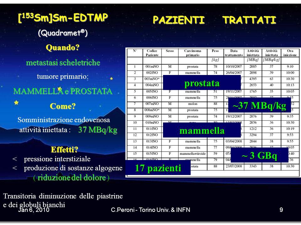 Jan 6, 2010C.Peroni - Torino Univ.