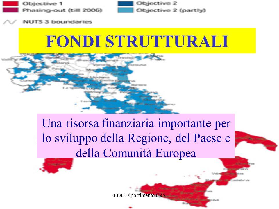 FDL Dipartimento FRS FONDI STRUTTURALI Una risorsa finanziaria importante per lo sviluppo della Regione, del Paese e della Comunità Europea