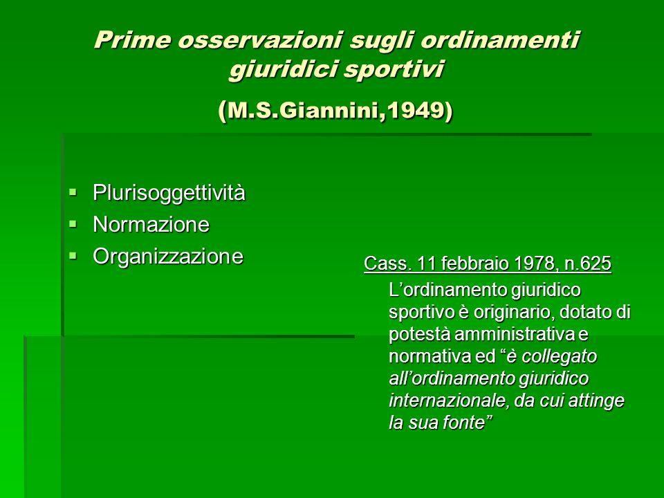 Norma sportiva/ norma statale : gerarchia o conflitto.
