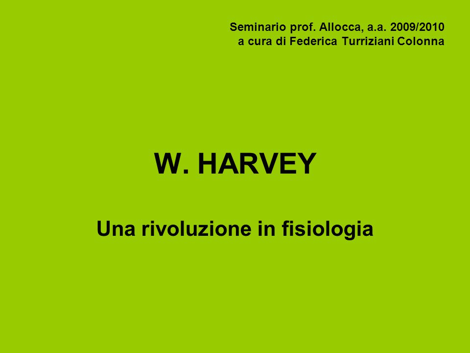 Seminario prof. Allocca, a.a. 2009/2010 a cura di Federica Turriziani Colonna W.