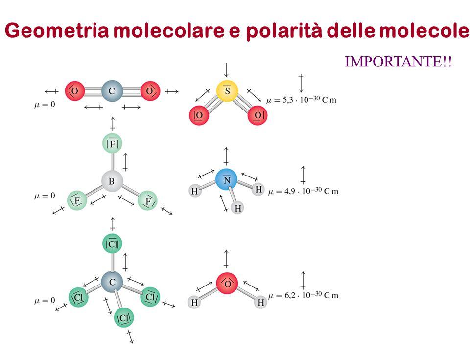 Geometria molecolare e polarità delle molecole IMPORTANTE!!