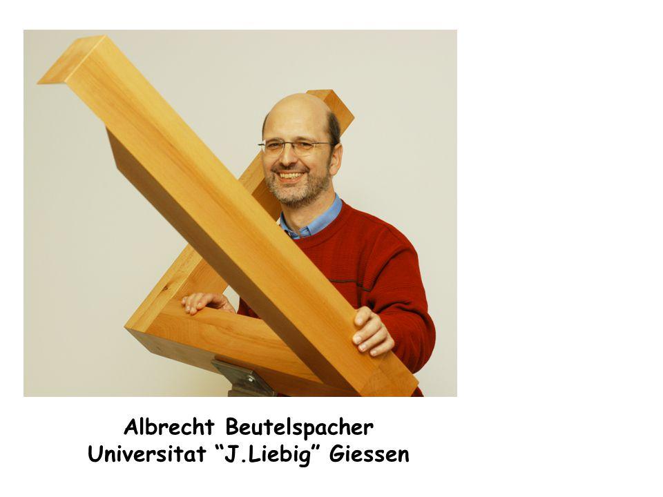 """Albrecht Beutelspacher Universitat """"J.Liebig"""" Giessen"""