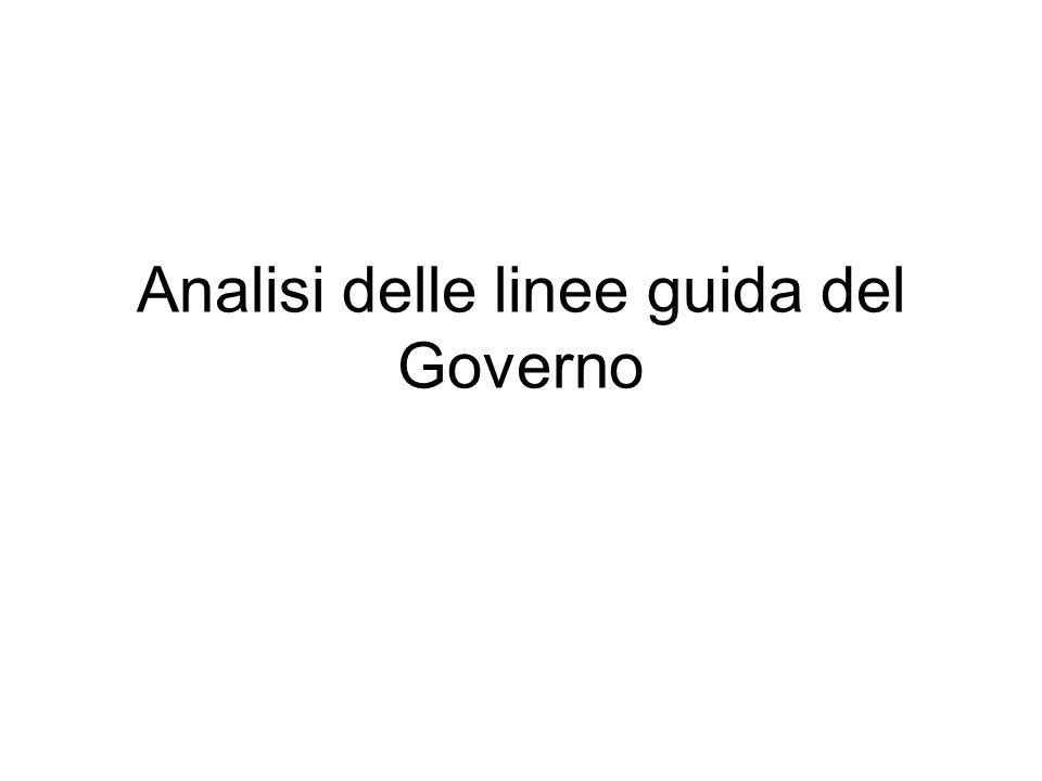 Analisi delle linee guida del Governo