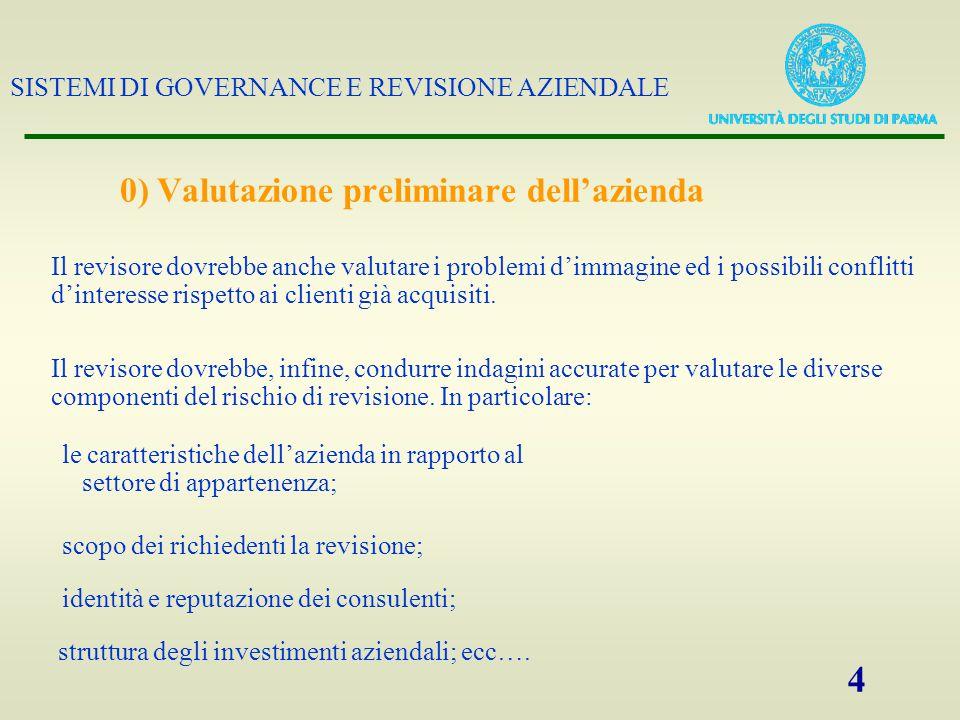 SISTEMI DI GOVERNANCE E REVISIONE AZIENDALE 25 OPERAZIONI AZIENDALI CONTABILITÁ BILANCIO 2- Verifiche per progressione (accertamento della completezza)