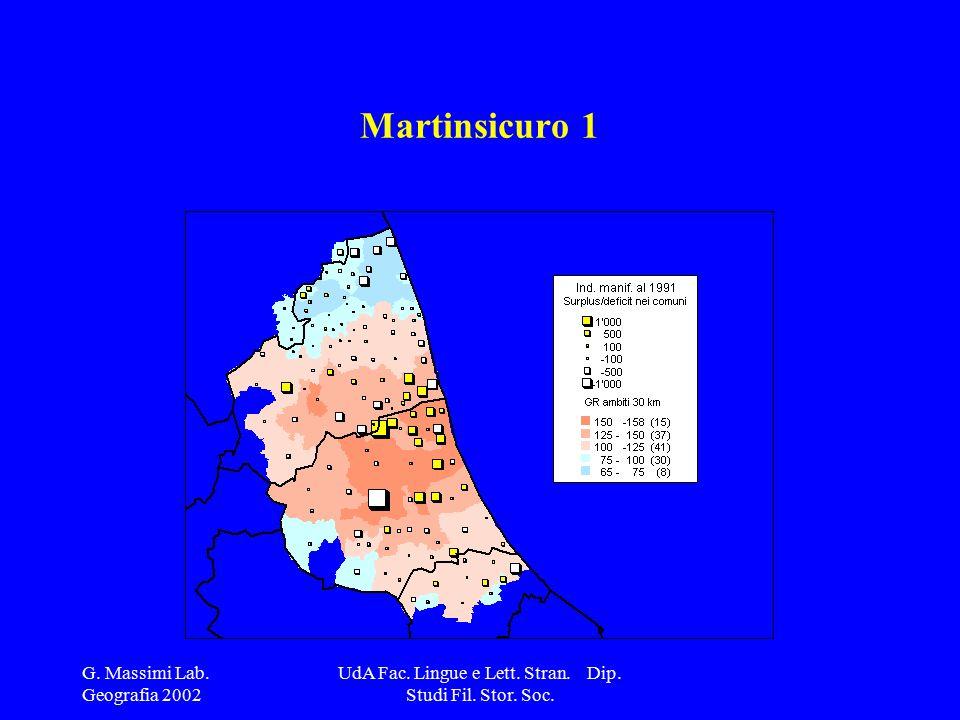 G. Massimi Lab. Geografia 2002 UdA Fac. Lingue e Lett.