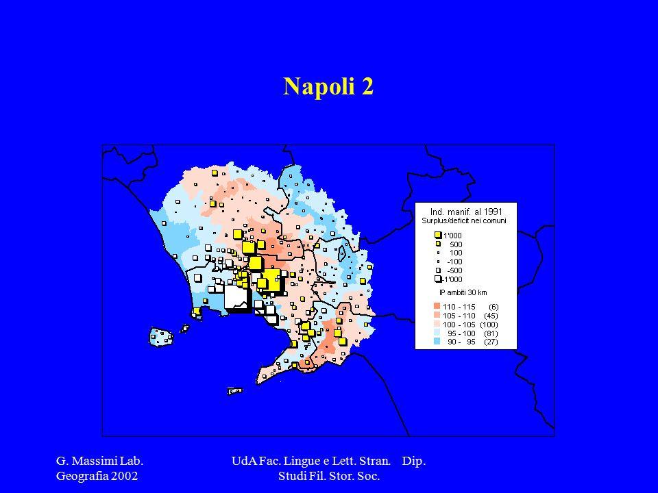 G. Massimi Lab. Geografia 2002 UdA Fac. Lingue e Lett. Stran. Dip. Studi Fil. Stor. Soc. Napoli 2